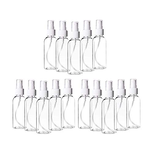 【US Stock】(48 PCS) Plastic Clear Spray Bottles 3.4oz,Refillable Fine Mist Sprayer Bottles 100ml Makeup Cosmetic Atomizers Empty Small Spray Bottle Container for Essential Oils, Travel, Perfumes,48PCS