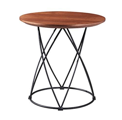 YWXCJ Tables Basses Petite Table Basse Nordique en Fer forgé Simple Mini-Salon Mobile créatif Petite Table Ronde Petite Table canapé côté Coin