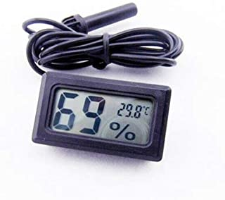 Itian LCD Digital Embedded Thermometer Hygrometer Probe for Reptile Black