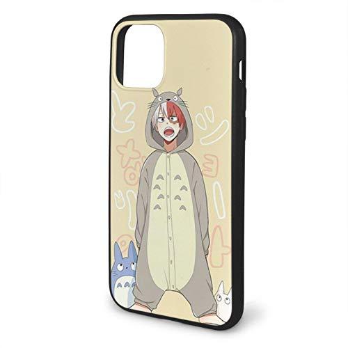 Fashion888 My Hero Academia Shoto Totoro Pijama Japanese Anime Compatible para iPhone 11 12 Pro MAX XR XS MAX 6/7/8 Plus SE 2020 Funda para teléfono Negra Funda para teléfono móvil