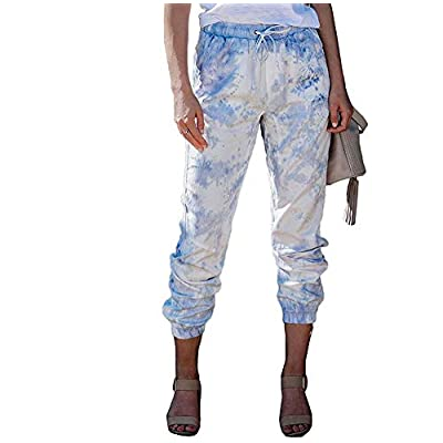 Amazon - Save 55%: Women Tie Dye High Waist Jogging Jogger Pants with Pockets Stretch Sport Tra…