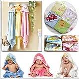 Generic rosa Smart, 76x 76cm: bebé con capucha toalla de baño (Carter...