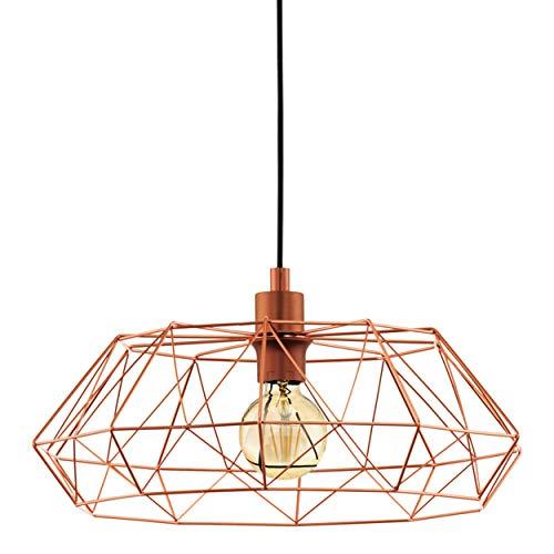 EGLO 49488 Lampe suspendue, Acier, E27, cuivre, 45.5 x 45.5 x 110 cm