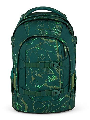 Satch Pack Green Compass Schulrucksack Set 2tlg.