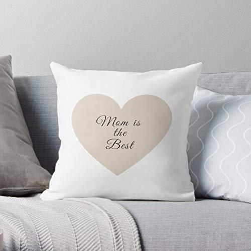 Fr75en - Federa per cuscino a forma di cuore con scritta 'Mom is the Best'