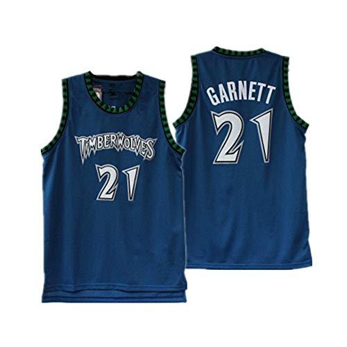 Gsaknc # 21 Timberwolves Garnett Basketballtrikot, klassisches heißgepresstes City-Fan-Trikot. Das Material des Trikots selbst ist von sehr hoher Qualität. Atmungsaktiv für das Training im Freien
