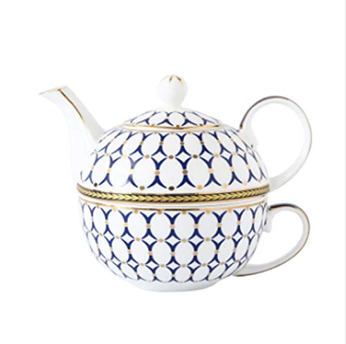 Cast Iron teapot Set Single Person Ceramic Teapot Bone China Teapot and Cup Set Afternoon Tea Set for Christmas Or Birthday Housewarming Gift Kitchen Hotel,