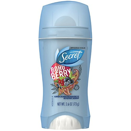 Secret Anti-Perspirant Deodorant Invisible Solid, Boho Berry 2.60 oz ( Pack of 2)