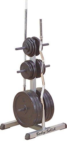 Body-Solid GSWT Hantelscheibenablage Stangenhalter Hantelscheibenständer 30mm, grau