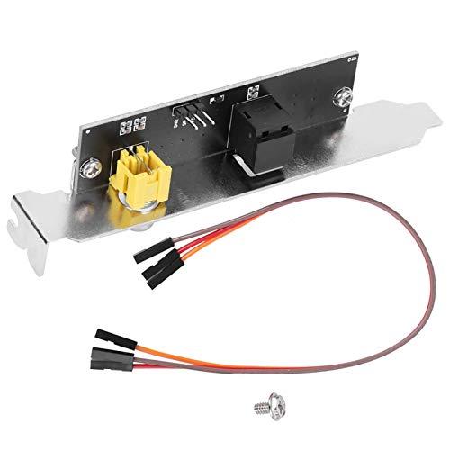Placa Salida Soporte Cable Placa trasera Soporte Cable Salto SPDIF Componentes Eléctricos Opticos 12 x 2 x 1,8 cm para Placa Base MSI