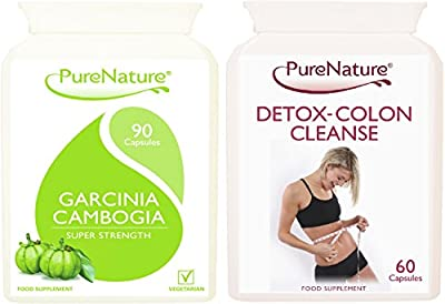 90 Garcinia Cambogia Original Triple Strength Slimming Pills 1500mg Daily with Essential Potassium & Calcium + 60 Premium Detox Colon Cleanse |UK Made 5 STAR Rated| No Stimulants | Suitable for Vegetarians + FREE 2016 Fast Start Diet Plan | 1 Month Supply