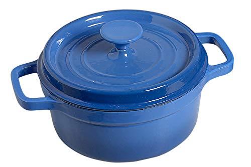 Cosy & Trendy 140994-Cocotte fonte Bergerac Burgundy, Bleu, 2L
