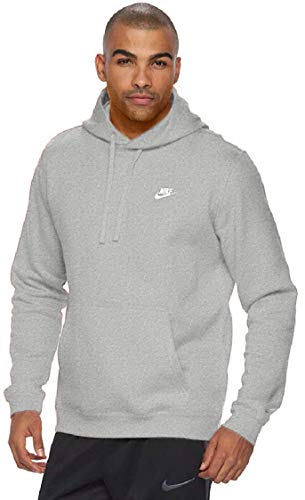 Nike Men's Club Fleece Pullover Hoodie (Dark Gray Heather, Large)
