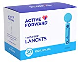 Active Forward Blood Glucose Lancets | 30 Gauge Needles (100 Lancets)