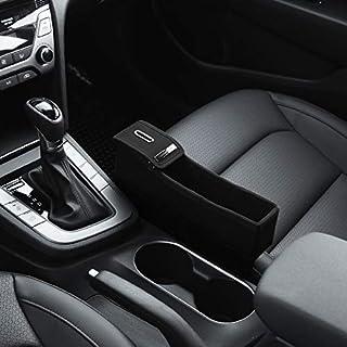 KMMOTORS コイン用サイドポケット コンソールサイド取り付けポケット 自動車内整理用 黒 Passenger's Seat Black without Cupholder Plywood-Passenger-Black-without