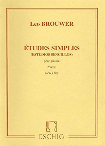 Leo Brouwer: Etudes Simples - 2nd Serie. Partituras para Guitarra ...