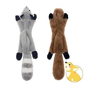 JINYJIA Juguete de Peluche para Perro - 2 Piezas Juguetes para Masticar con Perro sin Relleno, para Cachorros Perros Pequeños Mascotas