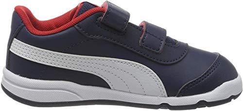 Puma Unisex-Kinder Stepfleex 2 Sl Ve V Inf Sneakers, Blau (Peacoat White-Flame Scarlet), 25 EU