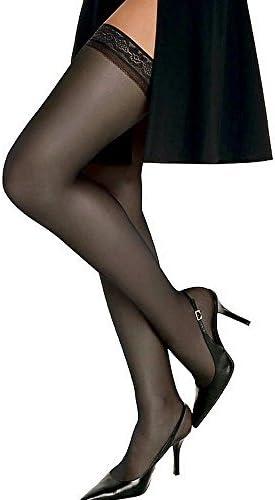 Hanes Women`s Set of 3 Silk Reflections Silky Sheer Thigh High