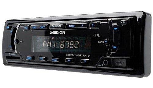Medion E62007 Life CD-MP3-WMA-Tuner (AUX In, SD-Kartenslot, 72 Watt, USB 2.0) schwarz