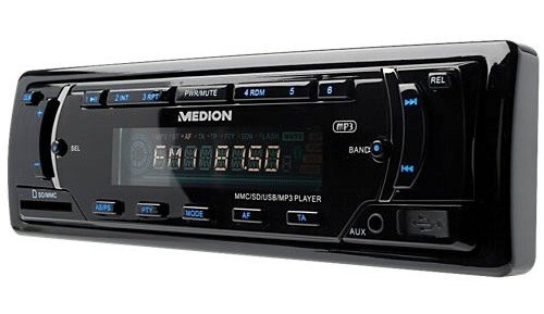 Medion E62007 Life CD-MP3-WMA-Tuner (AUX In, SD-Kartenslot, 72 Watt, USB 2.0) schwarz