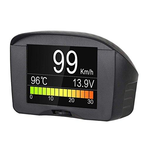 autool Auto OBDII Digital kmh/MPH Tachometer & Overspeed Alarm Auto gemeinsamen Fault Code Scanner Wasser Temperatur Messgerät Mit LCD Display für 12V die meisten Benzin und Diesel Fahrzeuge