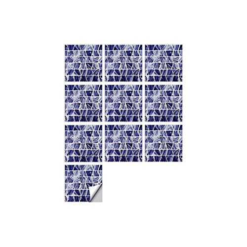 QOXEFPJZ Cenefa Adhesiva Cocina 1 0PCS Pegatinas de Pared de la Pared del epoxi de imitación Trapezoidal, decoración a Rayas Mejoras para el hogar Pegatinas de Azulejos (Color : A, Size : 20 * 20cm)