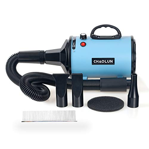 CHAOLUN Blower Grooming Dryer Dog Hair Dryer with Heater Dogs & Cats, 3.2HP 2400W Powerful Blow...
