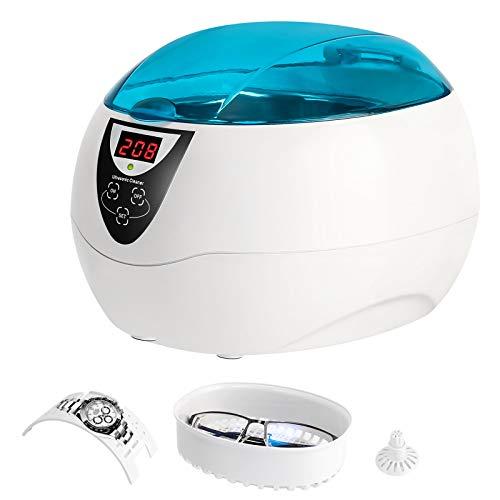Furado 750Ml Ultraschallreiniger Reinigungsgerät Ultraschallreinigungsgerät Digital Ultrasonic Cleaner Reiniger Reinigungskorb Ultraschallbad für Brillen Schmuck Uhren Zahnprothesen