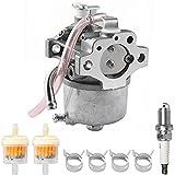 ZAMDOE Carburador para John Deere 14SB JE75 JX75 JX85, cortacésped de 21 pulgadas, para Kawasaki FC150V de 4 tiempos motor, reemplaza # 15003-2364, con bujía