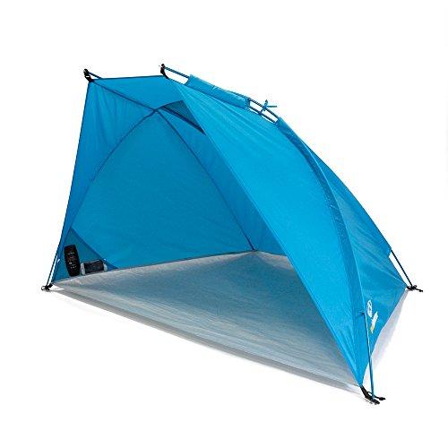 outdoorer carpa para playa ligera Helios Air 850, protección UV de 80, compacta, volúmen pequeño para viajar, tienda de campaña solar con varillas de aluminio y circulación del aire