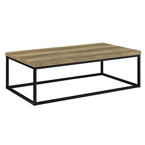[en.casa] Tavolino da Salotto Design Manchester 110 x 65 x 35 cm MDF Effetto Legno Telaio Acciaio