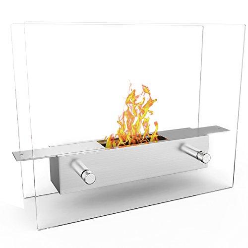Save %17 Now! Elite Flame Lyon Portable Tabletop Ventless Bio Ethanol Fireplace