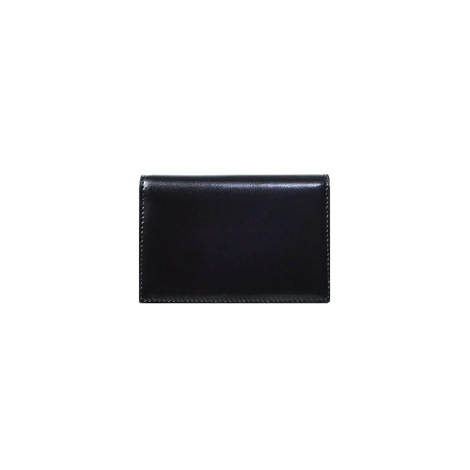 出発する品種出会い(ランザ) カードケース カウハイドレザー [ ブラック ] ビジネス カード ケース イタリア製