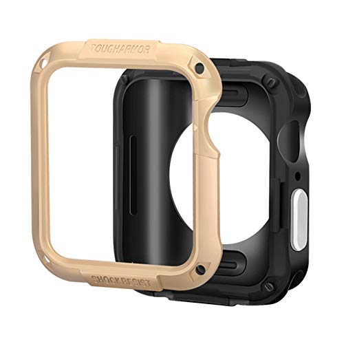 LRJBFC Cubierta Protectora SGP para Apple Watch 6 SE Funda de 44 mm 40 mm 42mm 38mm PC Funda para iWatch 6 5 4 3 2 Accesorios de Capas Anti-caídas (Color : Gold, Dial Diameter : Watch Case 40mm)