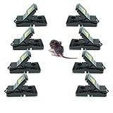 Trampa para ratones pequeños, reutilizable, funciona con copa de cebo desmontable, seguro, sanitario y efectivo para interiores, 8unidades