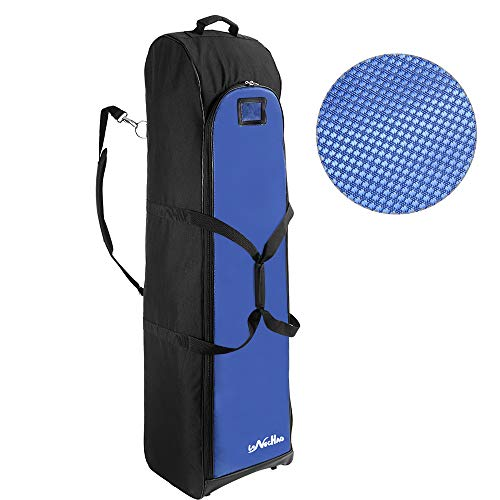 LONGCHAO Golf Travel Bag Hard Golf Travel Case Portable Golf Club Travel Cover Hard Support 600D PVC Cloth Golf Carry Bag Blue