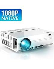 「2019 ABOX 1080P フルHD プロジェクター 4200lm ホームシアター 1920*1080リアル解像度 スピーカーが二つ内蔵 HDMI×2/USB×2/AV/VGA対応 iphone プロジェクター スマホ/パソコン/タブレット/ゲーム機などに対応