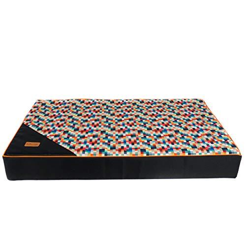 Colchón para un perro, Píxeles patrón perro espuma dura, almohada impermeable perro (M, píxeles)