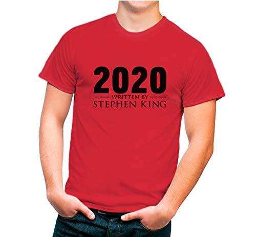Futbolkit Camiseta Adulto Divertida Diseño 2020 Pandemia (M, Rojo)