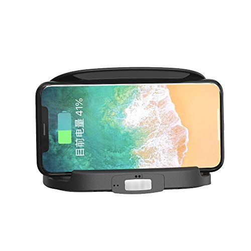 WZhen Cargador De Coche Inalámbrico Inteligente De 10W Soporte De Teléfono Móvil Estable Sensor Táctil Infrarrojo Carga Rápida con Detección Automática De Temperatura - Sólo Cargador
