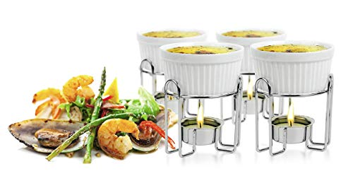 Artestia butter warmers set,Ceramic butter warmers for seafood,candle butter warmer set of...