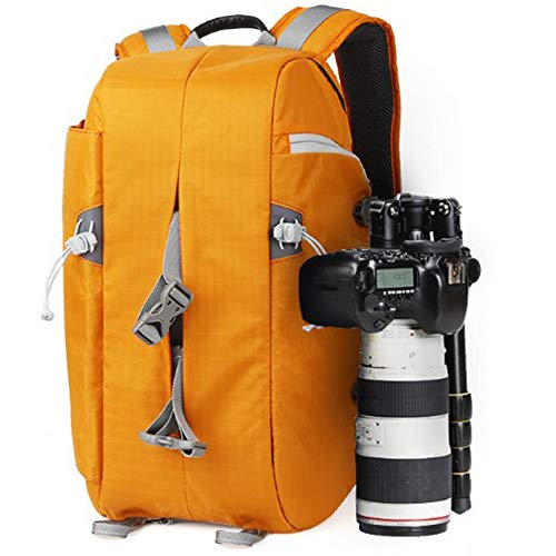 ZHHWYP Camera Backpack, Photography Backpack with Large Capacity, Padded Insert, Laptop Compartment, Professional Waterproof Camera Bag for DSLR SLR Canon Nikon Fuji Sony Cameras,Yellow