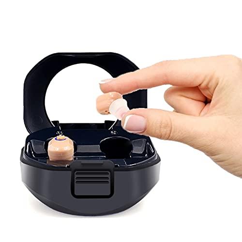 FR&RF 1 par de audífonos USB Recargable Mini en Ora Portátil Audífono Invisible Audífono Dígito Amplificador de Sonido para Ancianos sordos