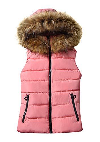 GORIFE Women Vests Winter Vest Packable Casual Down Vests Pink M