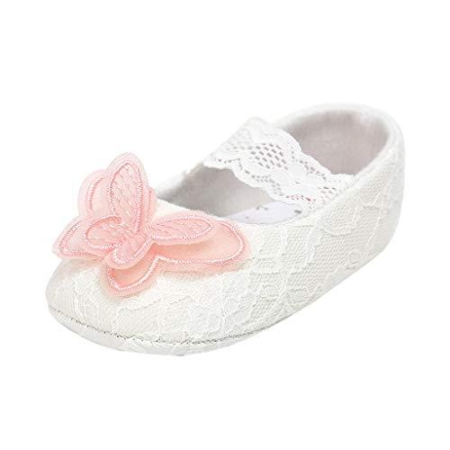 WEXCV Baby Mädchen Kleinkind Säuglings Newborn Casual Weiche Sohle Loafers Spitze Schmetterling Turnschuhe Schuhe Taufe Schuhe rutschfeste Hausschuhe