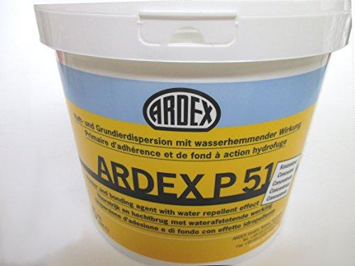 ARDEX P51 5kg Haft- und Grundierdispersionkonzentrat Für Boden, Wand und Decke. Sicherer Voranstrich mit großem Anwendungsbereich. Grundierung, Haftbrücke und Porenverschluss mit wasserhemmender Wirkung.