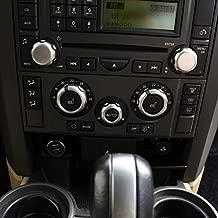 for Land Rover Range Rover Sport L320 2005 2006 2007 2008 ABS Chrome Car Air Conditioner Volume Knob Cover Trim Car Accessories