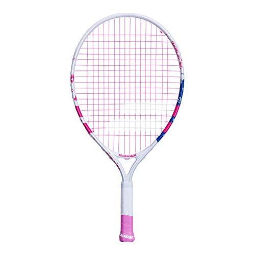 Babolat B Fly 21 Incordata: Sì 190G Racchette da Tennis Racchette per Bambini Bianco - Rosa 000