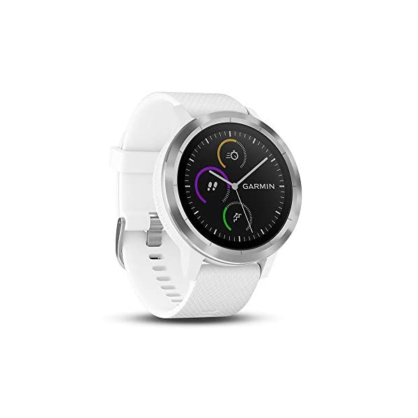 GARMIN – Smartwatch GARMIN Vivoactive 3 1,2′ GPS Waterproof 5 ATM Glonass White Stainless steel (Renewed)